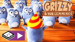 Download Grizzy și lemingii | Ziua lemingului | Boomerang Video