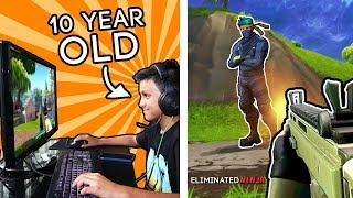 Download My Little Brother is a FORTNITE *PRO*! (How Good is He?) Video