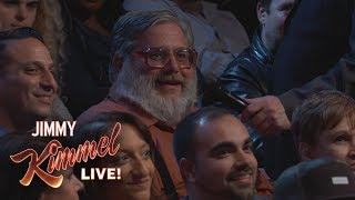 Download Behind the Scenes with Jimmy Kimmel and Audience (Yankees Thumbs Down Guy) Video