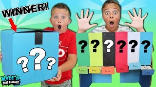 Download MYSTERY ROULETTE CANDY DISPENSER CHALLENGE! WHO WINS THE MYSTERY BOX? Video