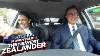Download Stephen Colbert: The Newest Zealander Visits PM Jacinda Ardern Video