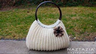 Download DIY Tutorial Easy Crochet Savvy Handbag Purse Tote - Croche Bolsa Borsa Bag Video