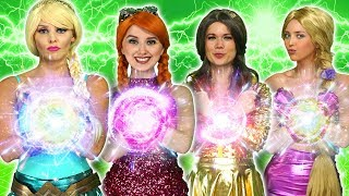Download DISNEY PRINCESS MAGIC SUPERPOWERS. (Rapunzel, Elsa, Belle, Tiana, Anna vs Maleficent and Gaston) Video