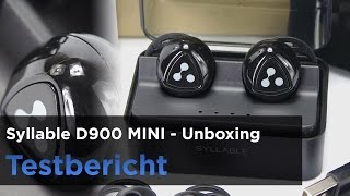 Download Syllable D900 Mini, Bluetoot-Kopfhörer, InEar ohne Kabel im Test Video