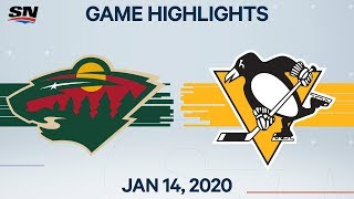 Download NHL Highlights | Wild vs Penguins – Jan. 14, 2020 Video