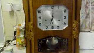 Download FRENCH VEDETTE DUAL CHIME WALL CLOCK WESTMINSTER AVE MARIA Video