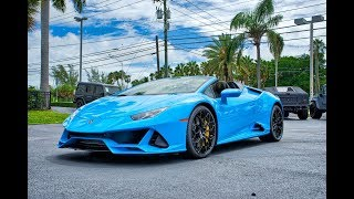 Download Lamborghini Huracan EVO Spyder Walkaround – Start Up Exterior and Interior at Lamborghini Miami Video