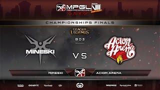 Download Mineski vs Acion Arena   MPGL8 Championship LoL - Finals - Game 2 - Bo3 Video