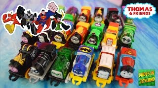 Download Thomas MINI trains DC Super Friends Superheroes - Thomas & Friends Batman Superman toys videos Video