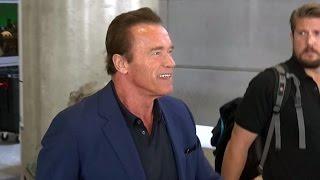 Download Arnold Schwarzenegger Smiles About Donald Trump Comparison Video