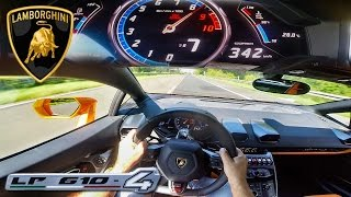 Download POV 342 km/h LAMBORGHINI HURACAN AKRAPOVIC INSANE! AUTOBAHN ACCELERATION TOP SPEED DRIVE & SOUND Video