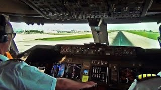 Download Boeing 747 Cockpit View - Take-Off from Miami Intl. (MIA) Video