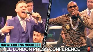 Download THE FULL FLOYD MAYWEATHER VS CONOR MCGREGOR LONDON PRESS CONFERENCE VIDEO Video