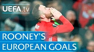 Download Wayne Rooney - All 39 of his European goals for Manchester United Video