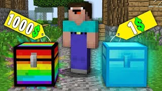 Download Minecraft NOOB vs PRO:NOOB BOUGHT RAINBOW CHEST FOR 1000$ VS DIAMOND CHEST FOR 1$! 100% trolling Video