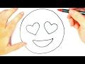 Download Cómo dibujar un Emoji Enamorado para niños | Dibujo de Emoji Enamorado Video