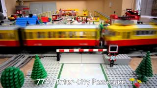 Download Lego Town Trains - 12v Lego Train Layout from 1980's Video