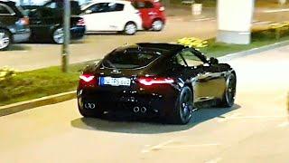 Download Jaguar F-Type R driving in Budva - Screaming V8 Sound! Video