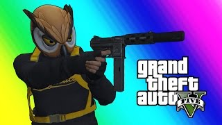 Download GTA 5 Online Funny Moments - Bat Owl and the Superhero Squad! Video