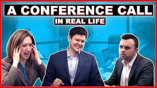 Download A Conference Call in Real Life Video