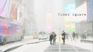 Download Snowstorm in Times Square, NYC. 4K G85 12-60mm kit. Video
