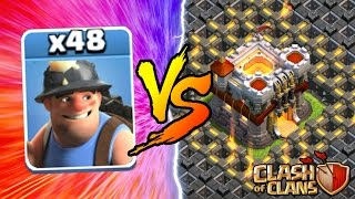 Download Clash Of Clans | ALL MINERS vs TOWN HALL 11! NEW INSANE GAME PLAY! | MAY 2016 UPDATE! Video