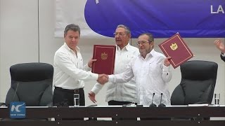 Download Colombian gov't, FARC rebels sign historic ceasefire agreement Video