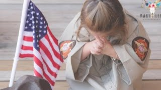 Download Toddler Prays for Fallen Officer Dad While Wearing His Uniform on 3rd Birthday Video