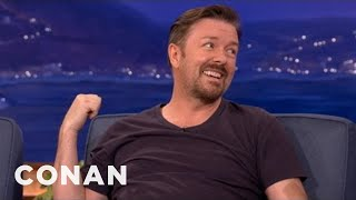 Download Ricky Gervais On His Scandinavian Comedy Tour - CONAN on TBS Video