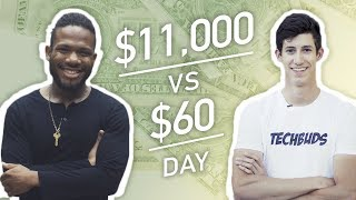 Download Earning $11,000 vs. $60 in a Day Video