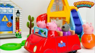 Download Let's Play with Peppa Pig Weebles and a fun Locking Dollhouse! Video