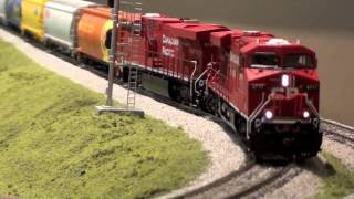 Download HO Robotized, Heavy Unit Grain Train Video
