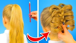 Download 12 CUTE HAIRSTYLES TO BE READY IN ONE MINUTE Video