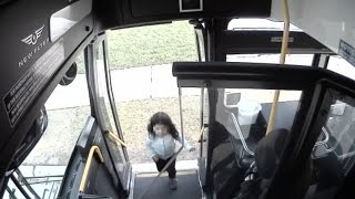 Download Bus Driver Pulls Over to Help Lost Girl Trying to Find Her Way Home Video