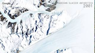 Download Google Timelapse: Hourihan Glacier, Antarctica Video