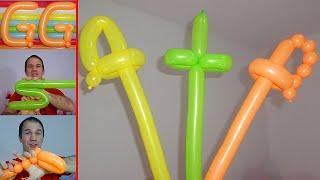 Download como hacer espadas con globos largos - globoflexia para niños, espada con globos paso a paso Video