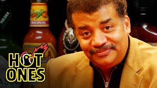 Download Neil deGrasse Tyson Explains the Universe While Eating Spicy Wings | Hot Ones Video