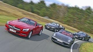 Download Porsche 911, BMW 650i, Mercedes SL 500, Jaguar XKR Video