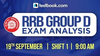 Download RRB Group D 2018 Exam Analysis   19th September Shift 1   Exam Review + Questions Asked Video