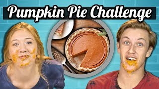 Download PUMPKIN PIE SPEED EATING CHALLENGE | Teens Vs. Food Video
