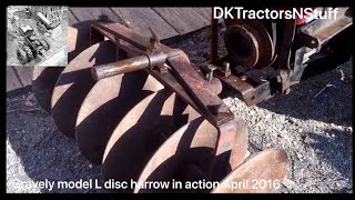 Download Gravely model L disc harrow in action April 2016 Video