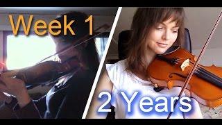 Download Adult beginner violinist - 2 years progress video Video