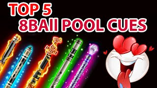 Download Top 5 8 Ball Pool Cues Compilation | Bought using 8 ball pool coins Video