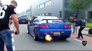 Download Awesome Nissan Skyline R34 GT-R V-Spec II BACKFIRE, REVS & Acceleration Sounds! Video