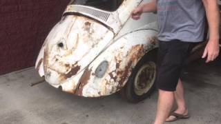 Download 1959 VW Beetle 1st Start In 30 Years Video 1 Video