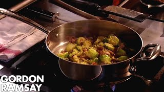 Download Brussels Sprouts with Pancetta and Chestnuts - Gordon Ramsay Video