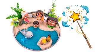 Download Moana Shiny Beach! DIY How to Make Kinetic Sand Beach Scene #00 - By MagicPang Video