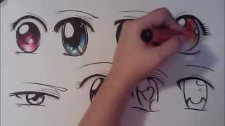 Download How to Draw Manga Eyes, Eight Different Ways Video