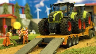 Download BRUDER Tractor CRASH | Truck and excavator in action | Video for kids Video