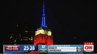 Download CNN: Empire State Building Lights for the New York Presidential Primary 2016 Video